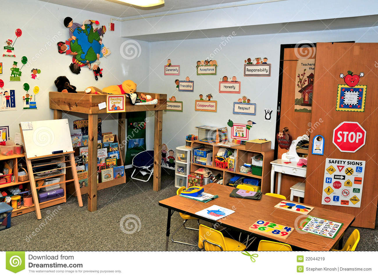 Toys For A Preschool Classroom : Preschool toy fun area stock image of charts