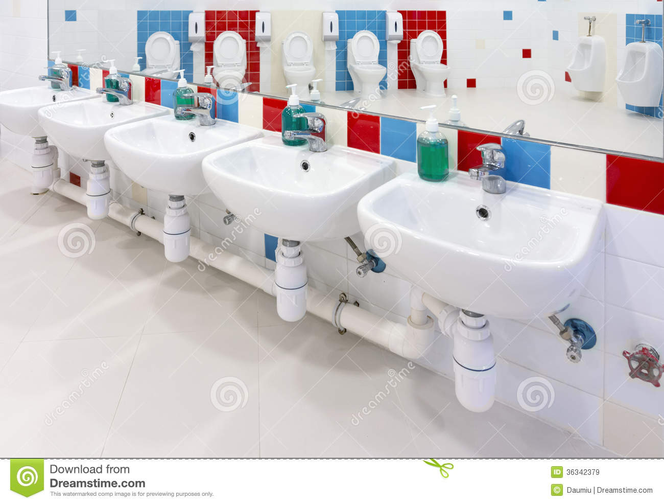 Restroom Furniture Preschool Washroom Royalty Free Stock Images - Image: 36342379