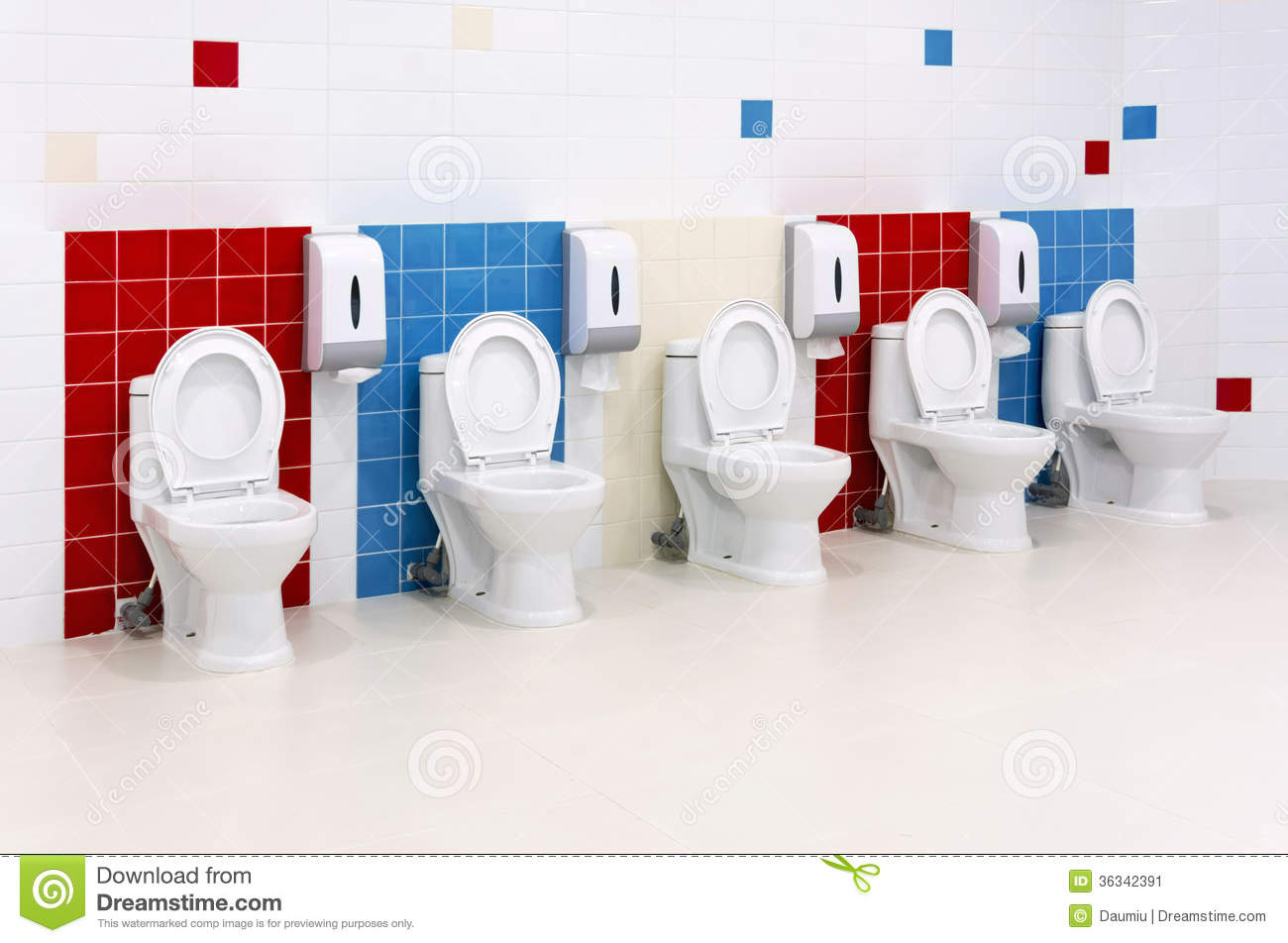 Preschool Washroom Stock Image - Image: 36342391
