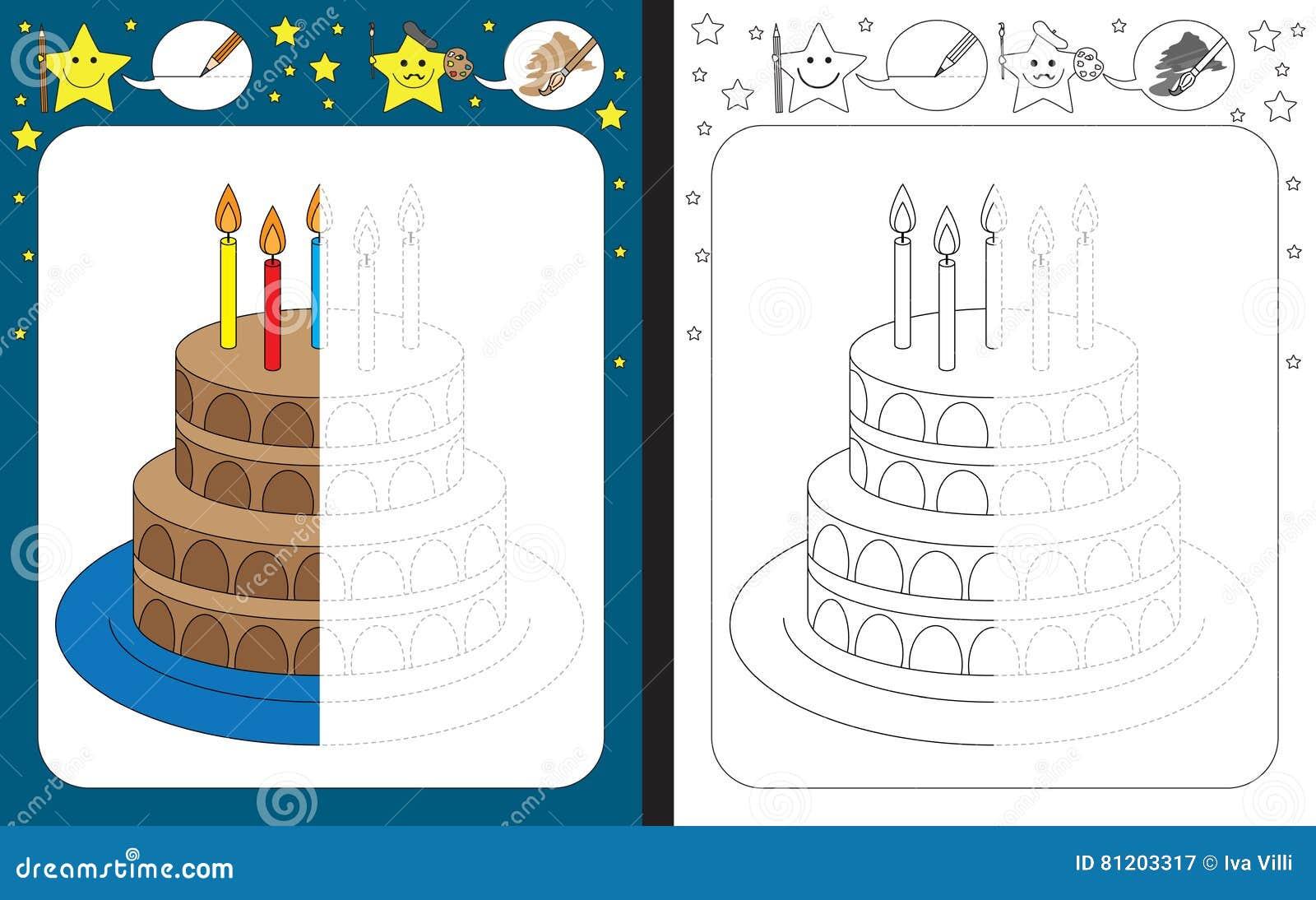 Preschool Worksheet Stock Vector Illustration Of Illustration