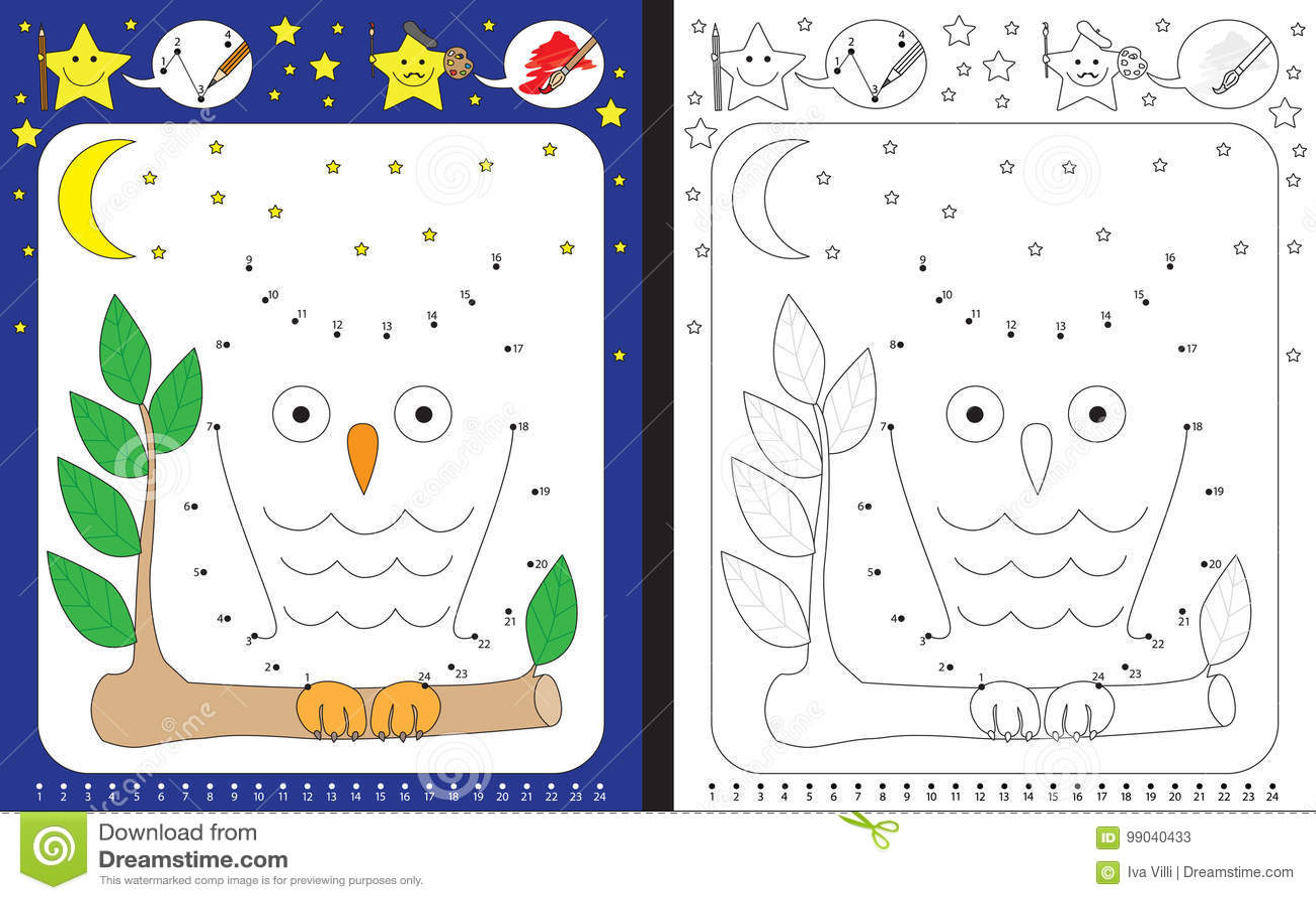 preschool worksheet stock vector illustration of kindergarten 99040433. Black Bedroom Furniture Sets. Home Design Ideas