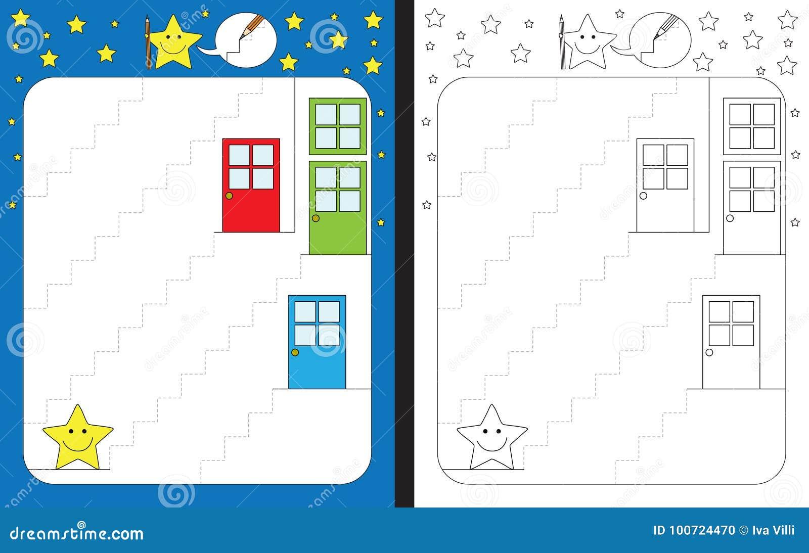 Preschool Worksheet Stock Vector Illustration Of Learning 100724470
