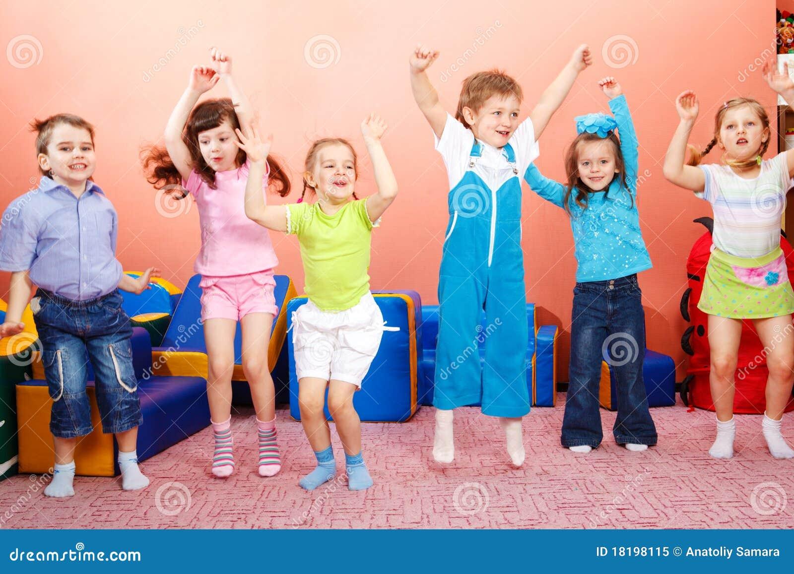 the preschool preschoolers jumping royalty free stock photo image 683
