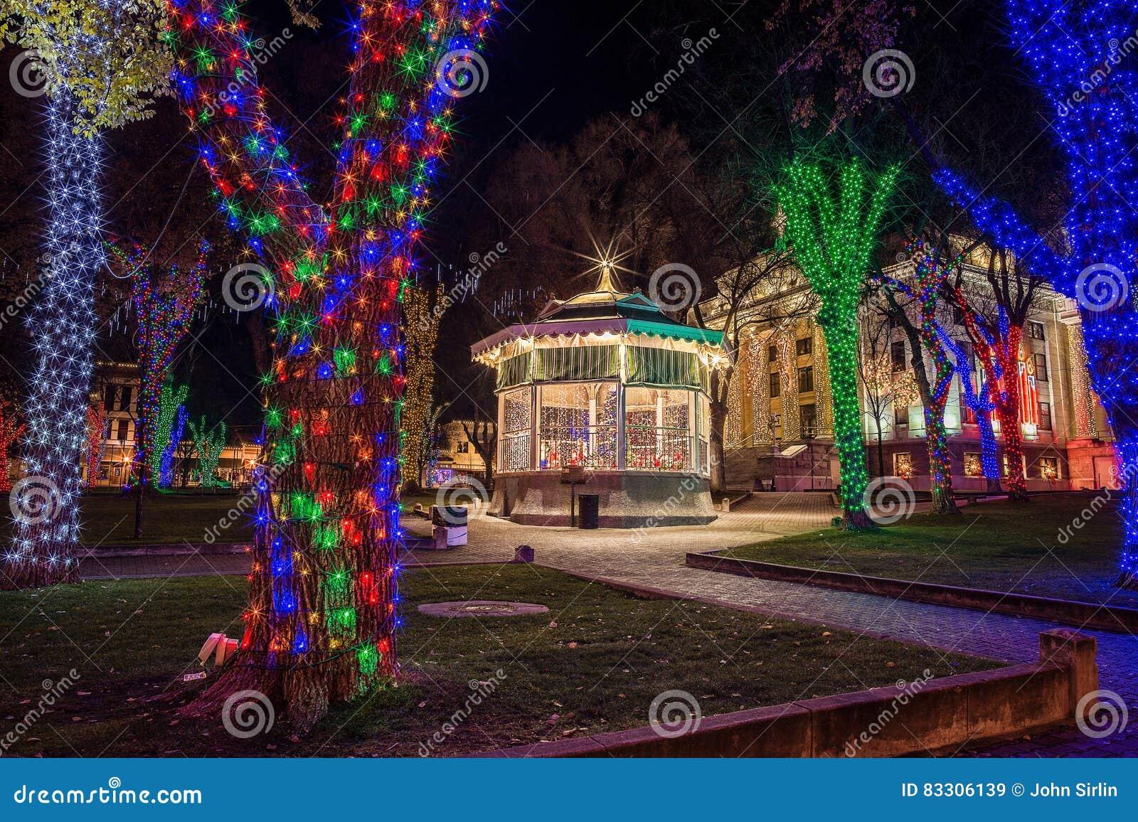 2021 Christmas Square Lighting Prescott Az Prescott Arizona Town Square With Christmas Lights Editorial Stock Image Image Of Holiday Prescott 83306139