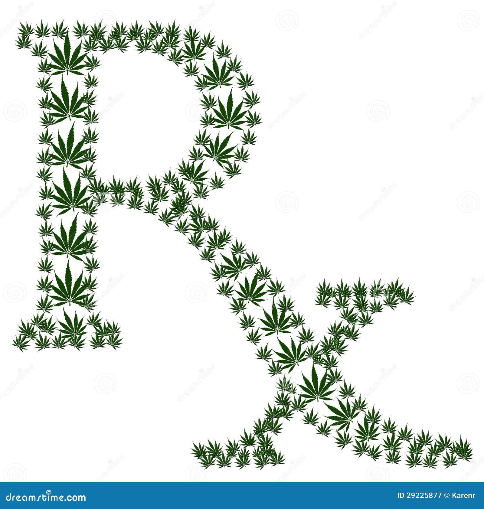Download Prescrição da marijuana ilustração stock. Ilustração de branco - 29225877