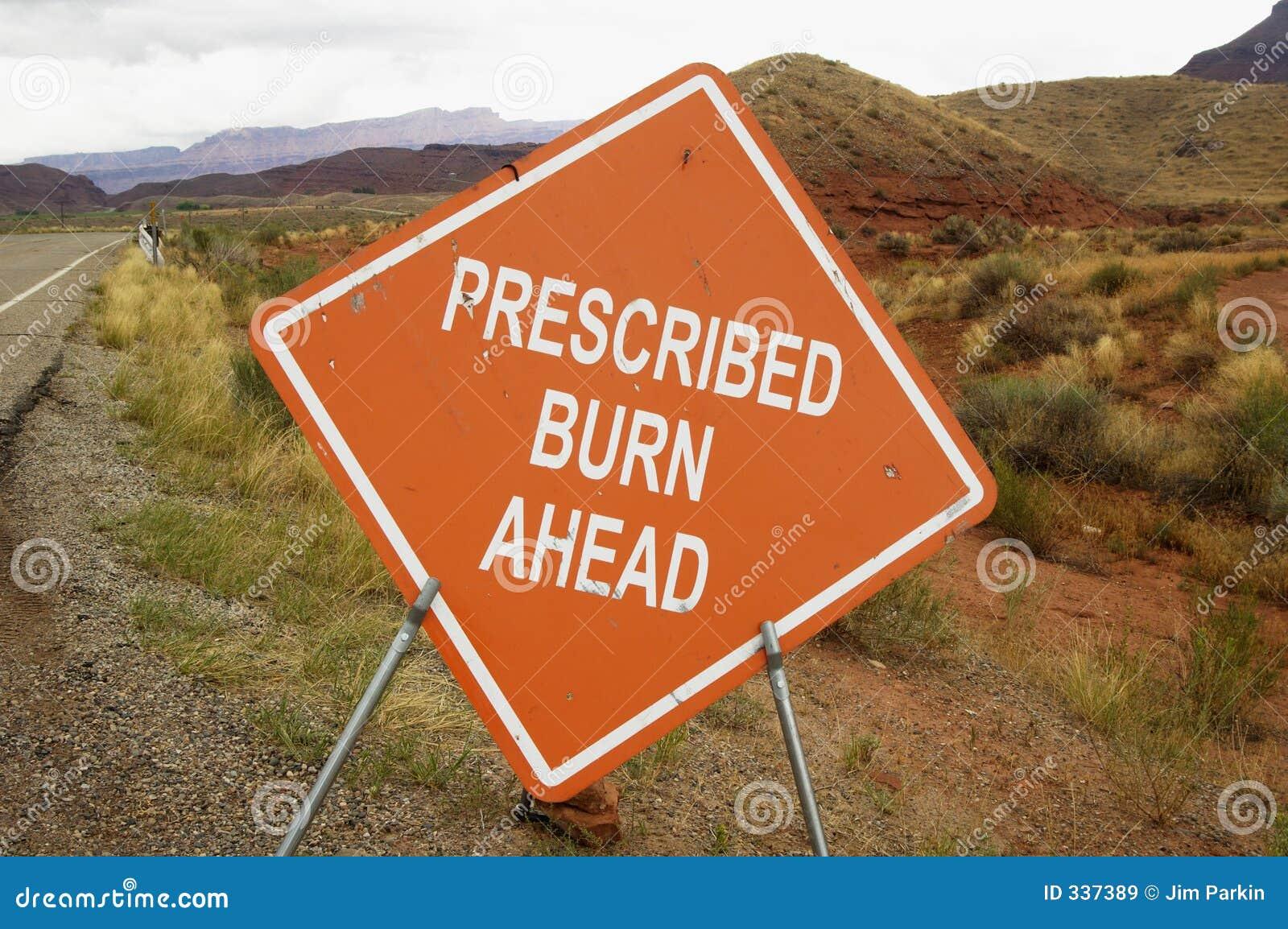 Prescribed burn sign