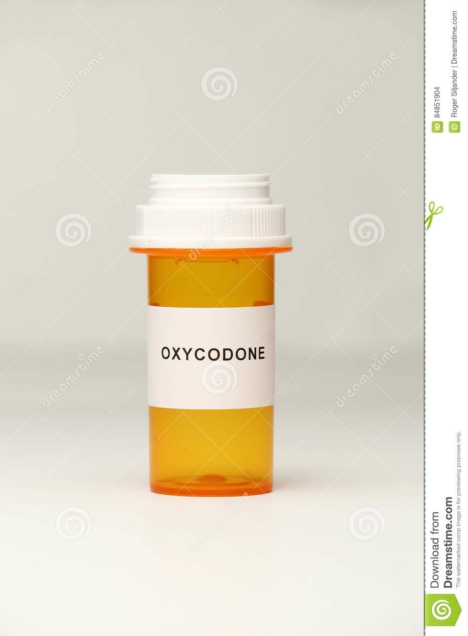 prescription bottle with oxycodone label stock photo image of