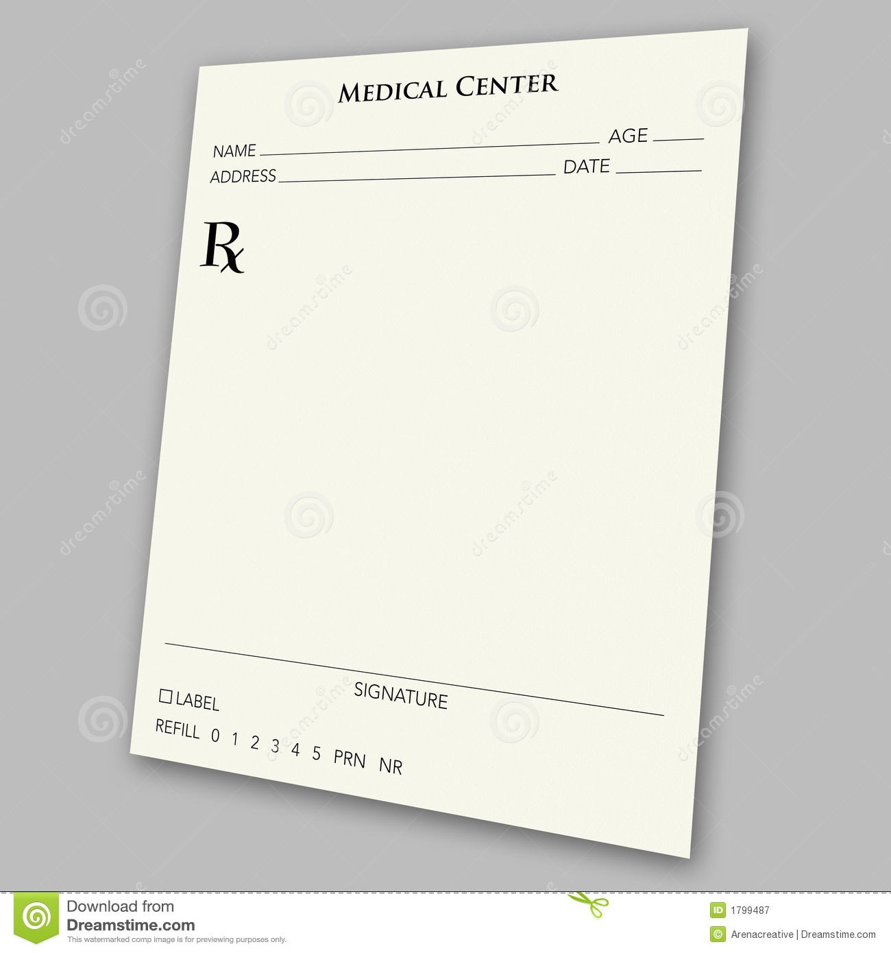 prescription pad template microsoft word
