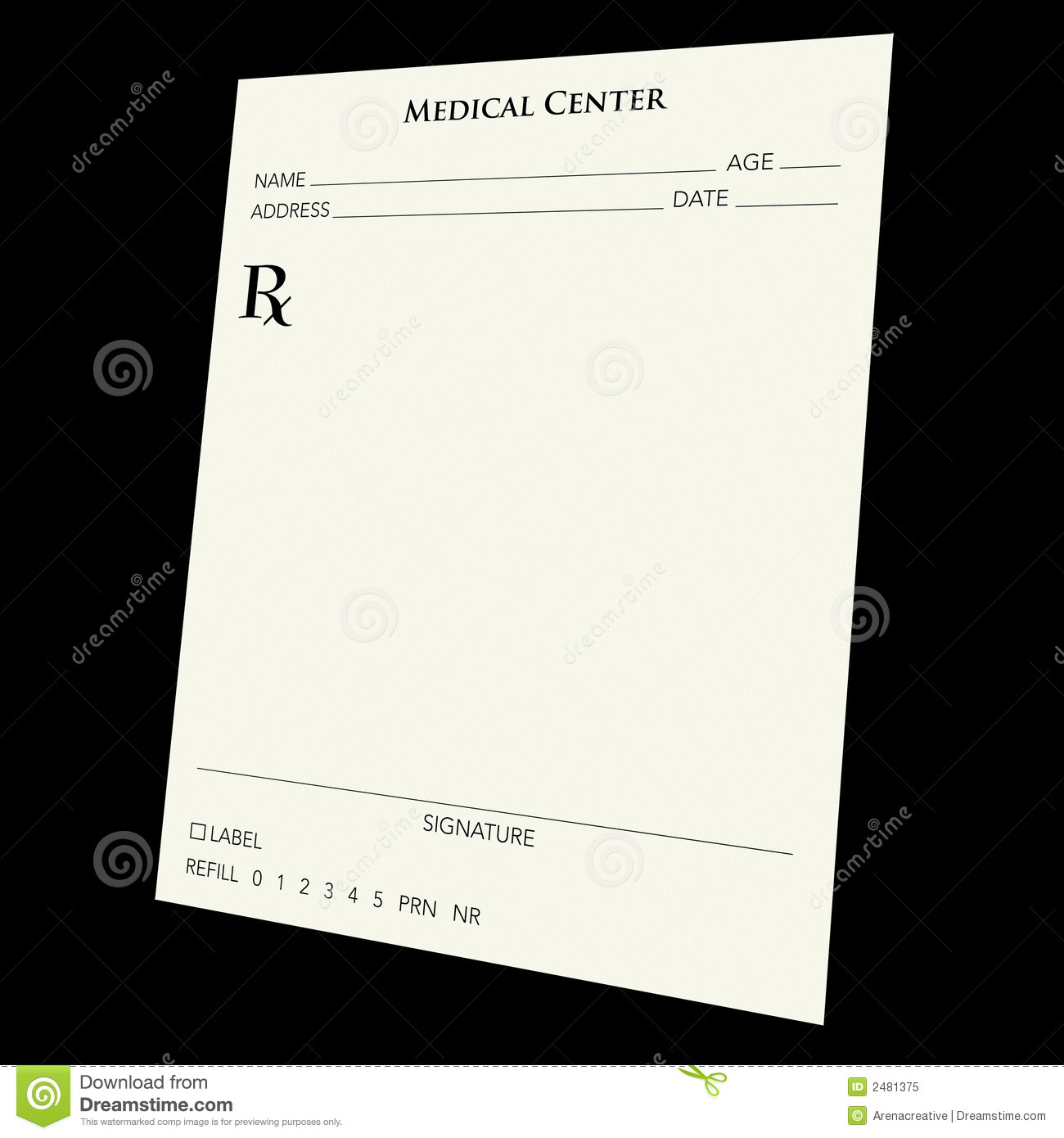 Blank Prescription Form Template Pad Microsoft Word Oyle Kalakaari Co