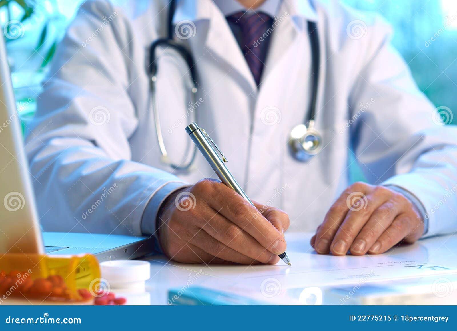 Prescrizione di scrittura del medico