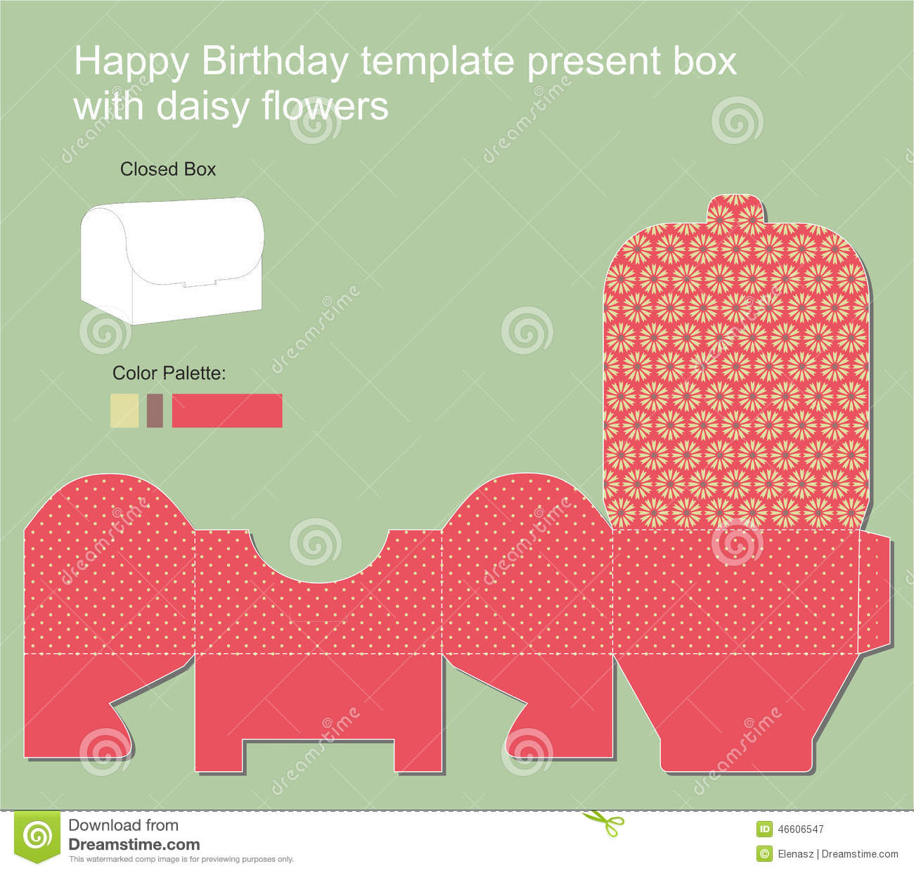 present box with happy birthday label stock vector illustration of