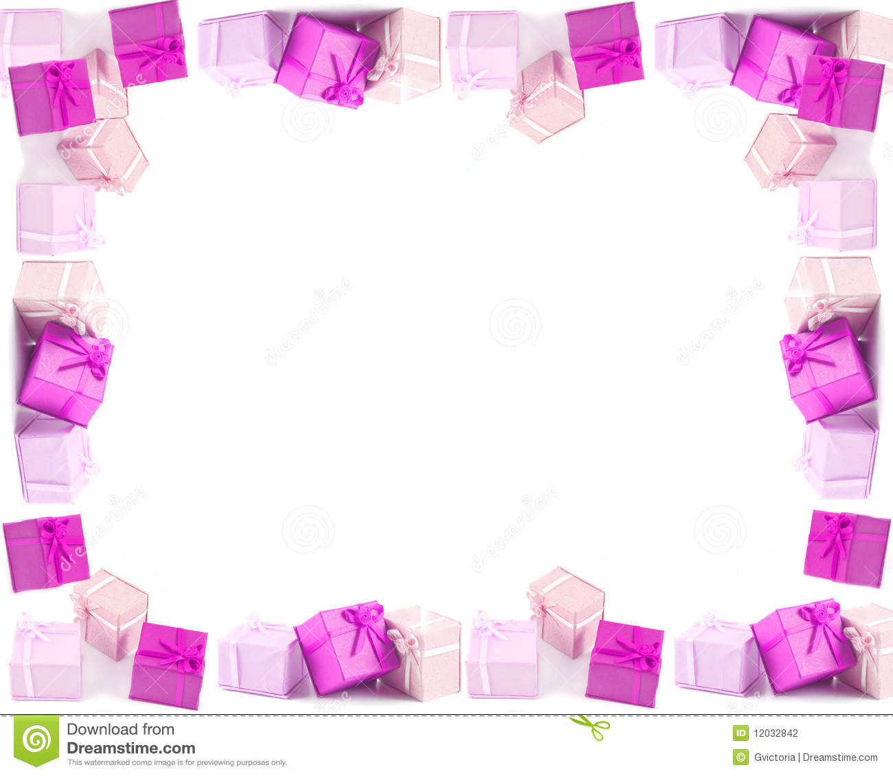 Present Boxes Frame Or Border Stock Photo - Image of occasion ...