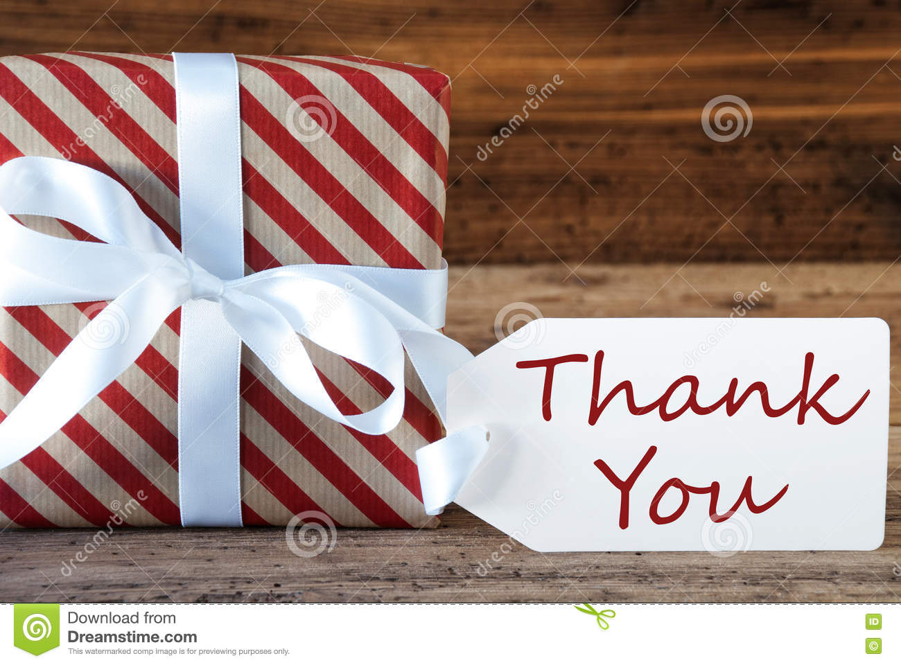 Present With Label, Text Thank You Stock Image - Image of thanks ...