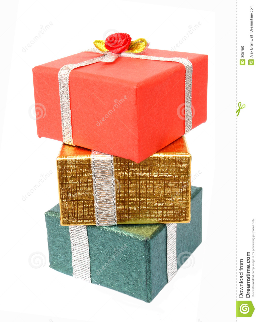 Present stack stock photo image of ring christmas