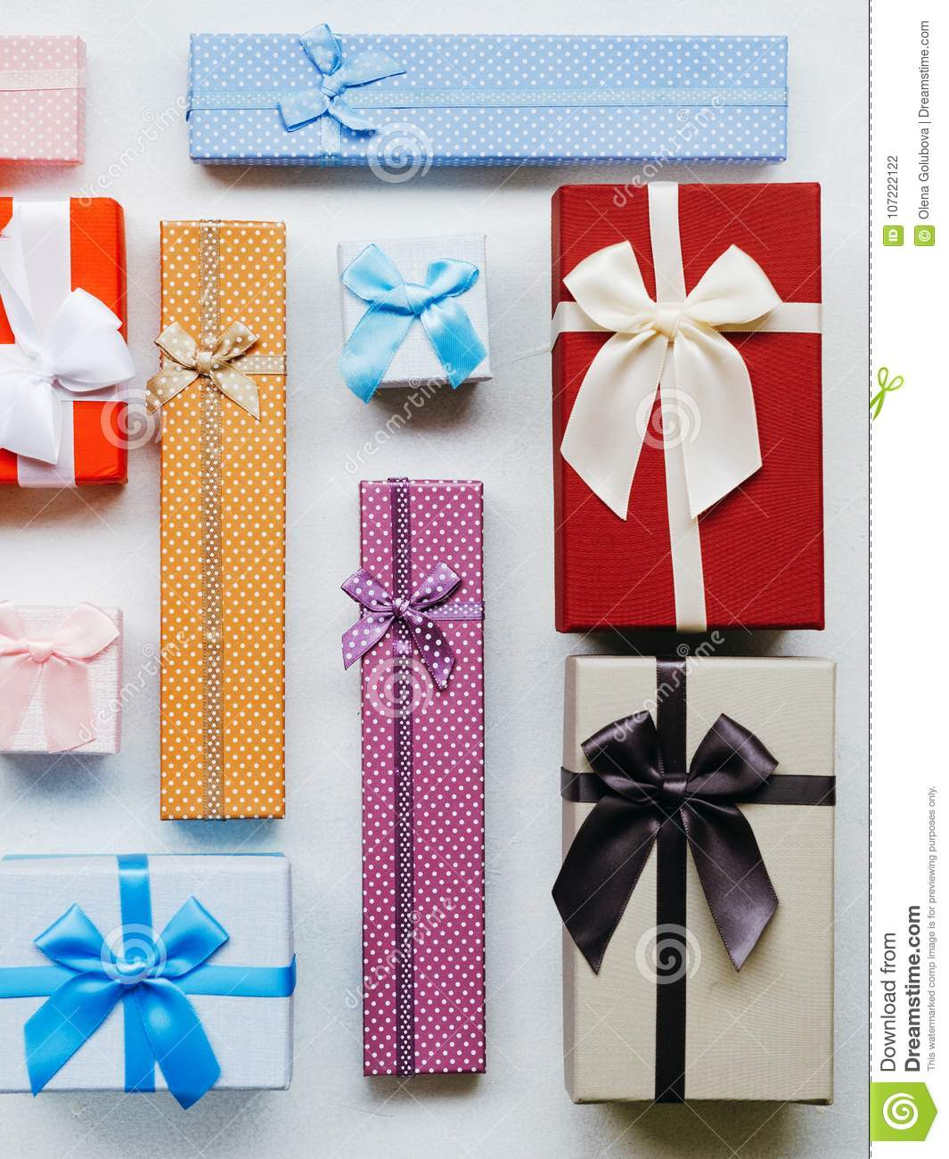 Present Wrapping Craft Creative Idea Boxes Design Stock