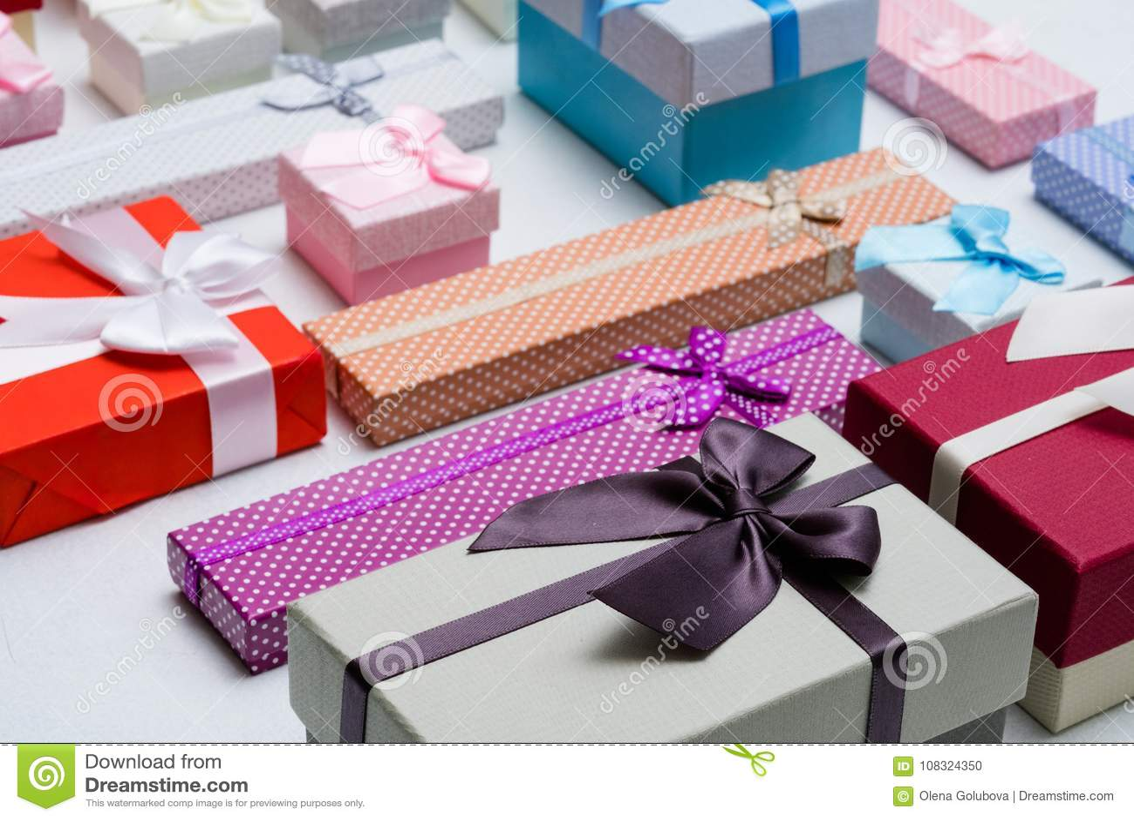 Present Wrapping Craft Creative Idea Boxes Design Stock Photo
