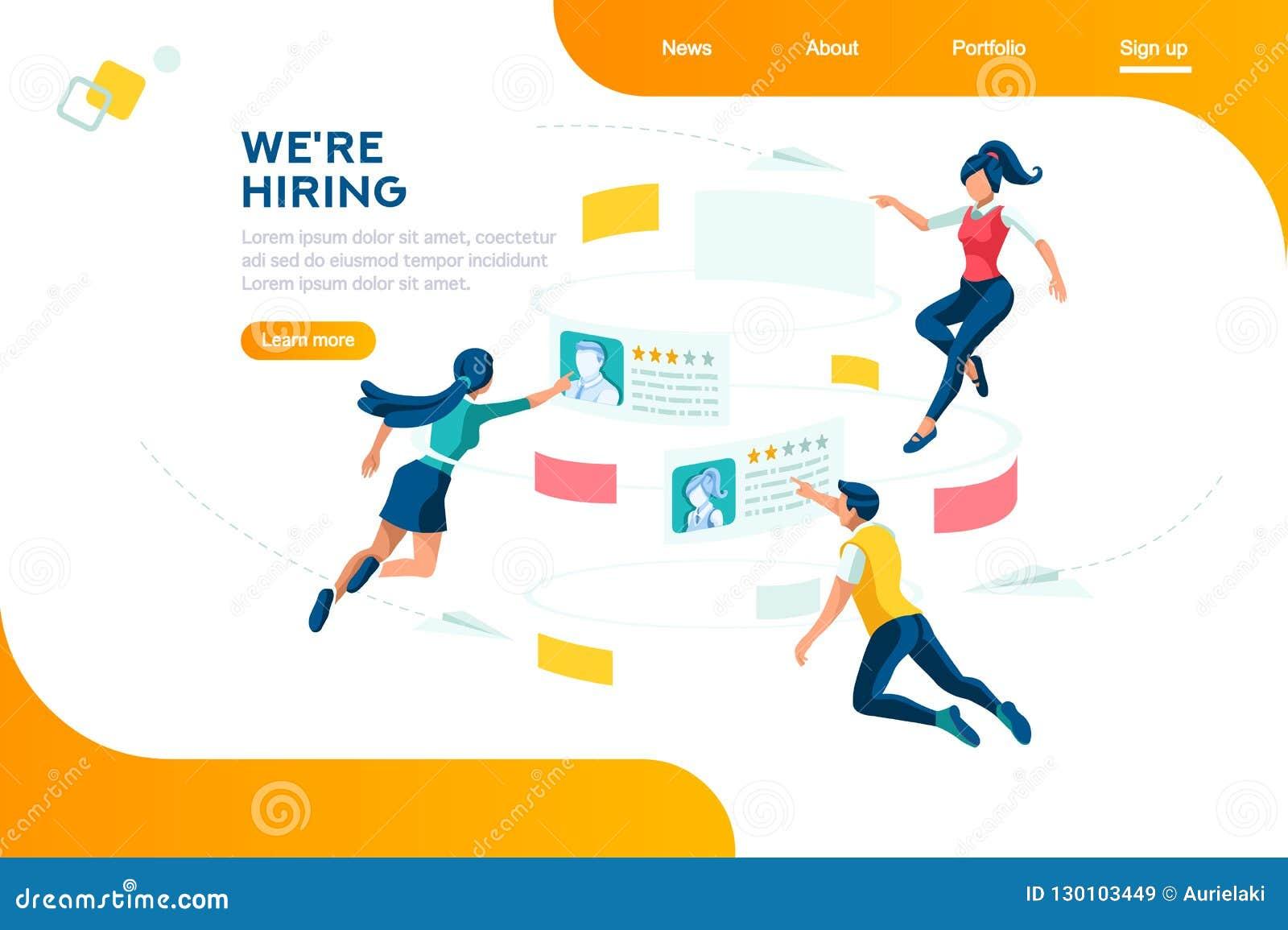 Presentación de reclutamiento de alquiler de la web de Selecrion de la gestión