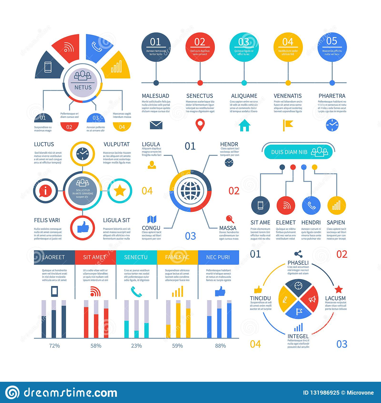 Presentación Infographics Carta de proceso de la cronología del organigrama, flujo de trabajo de la organización, diagramas de la