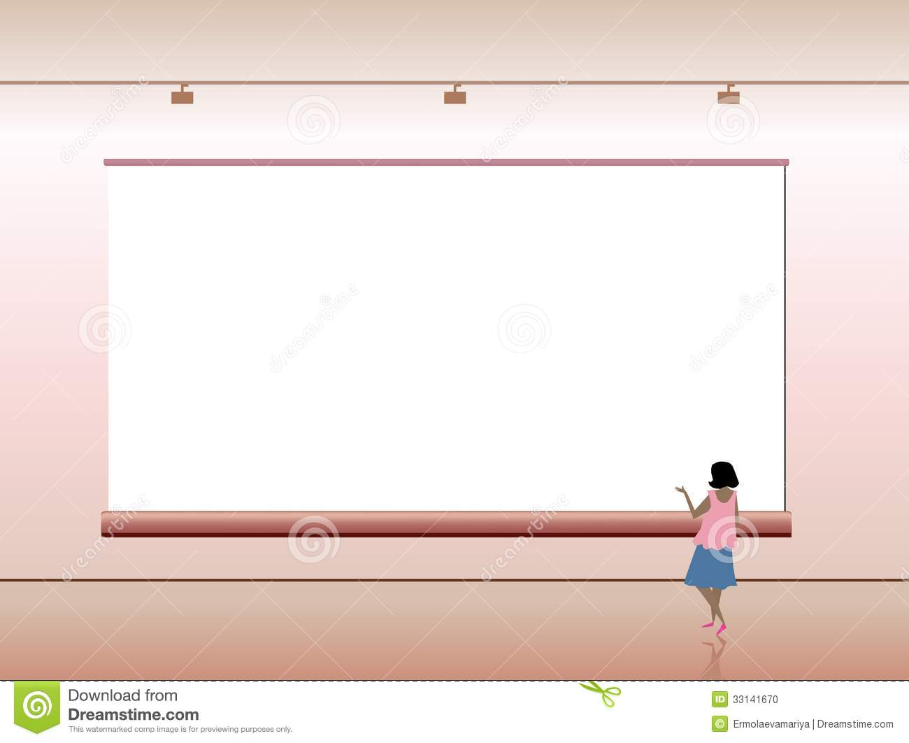 Presentation Advertising Board With People. Vector Stock ...