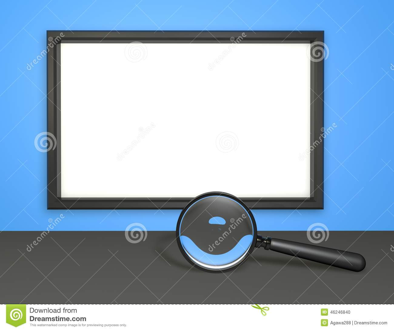 Presentation backgrounds with blank board and magnifying for Copy design