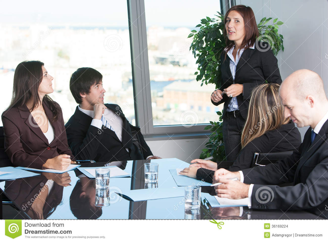 Presentation In Board Room Stock Images Image 36169224