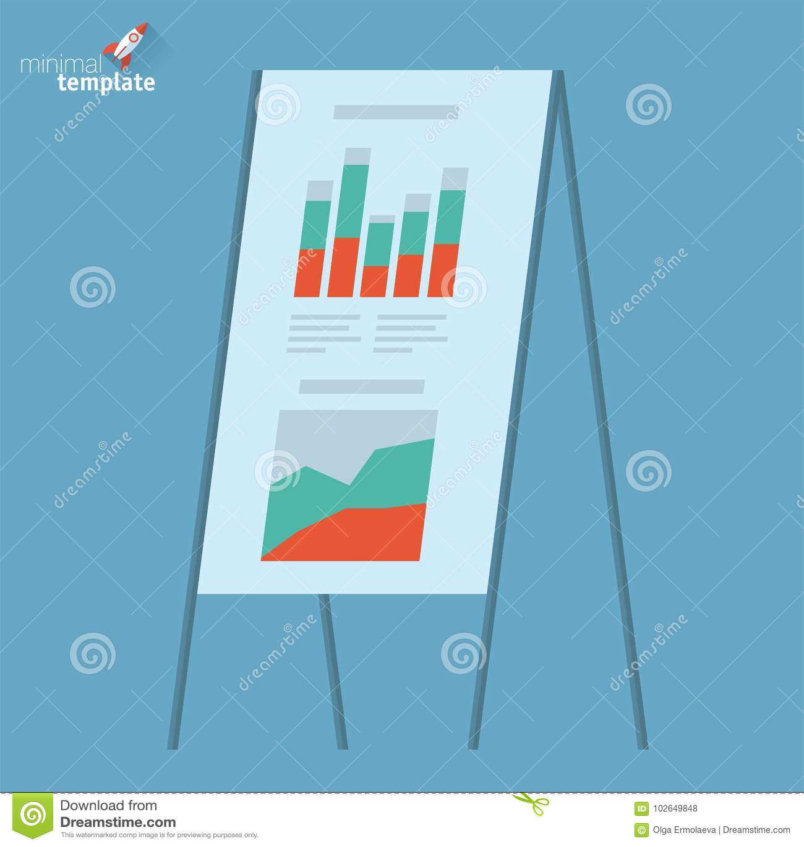 presentation board template stock vector illustration of meeting