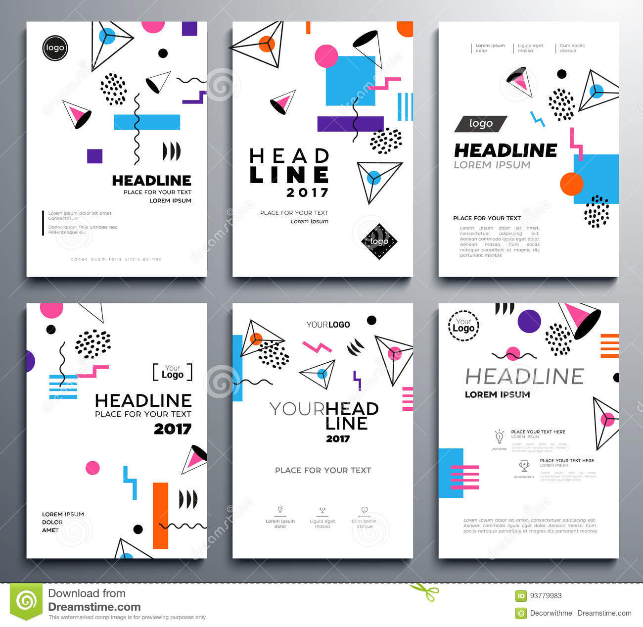 Presentation booklet covers vector template pages set stock presentation booklet covers vector template pages set pronofoot35fo Choice Image