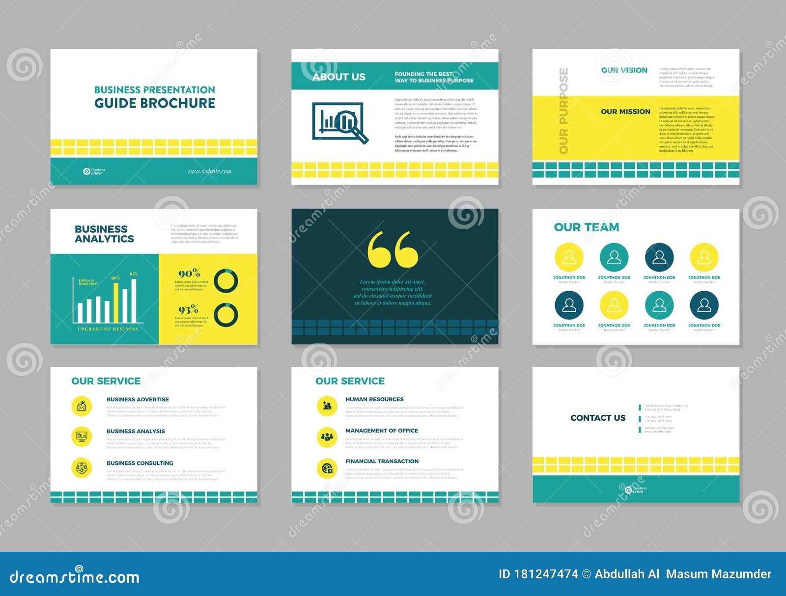 Creative Illustration Of Business Presentation Slide Manual Guide