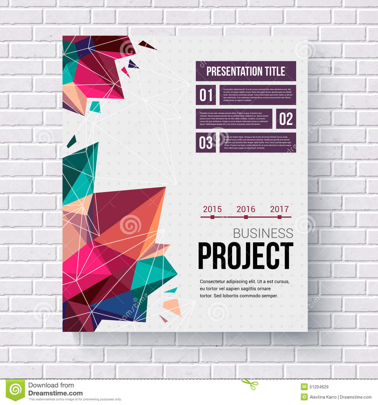 presentation brochure template stock vector