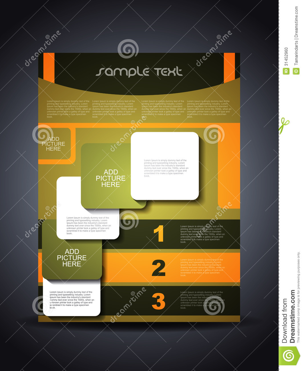 presentation of creative corporate flyer or cover stock photo   image