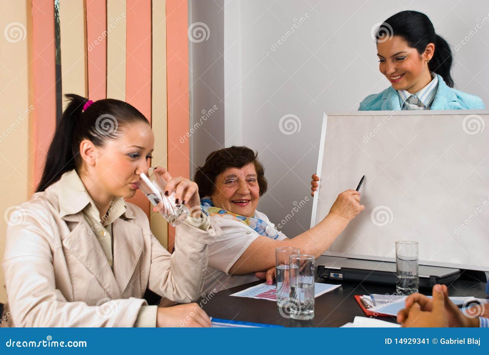 Presentation för folk för affärsmöte
