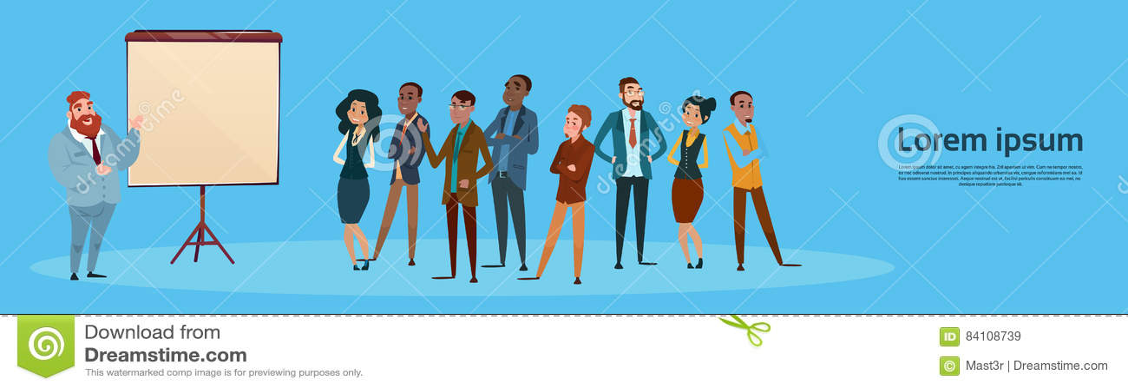 Presentation Flip Chart, Businesspeople Team Training Conference Meeting för grupp för affärsfolk