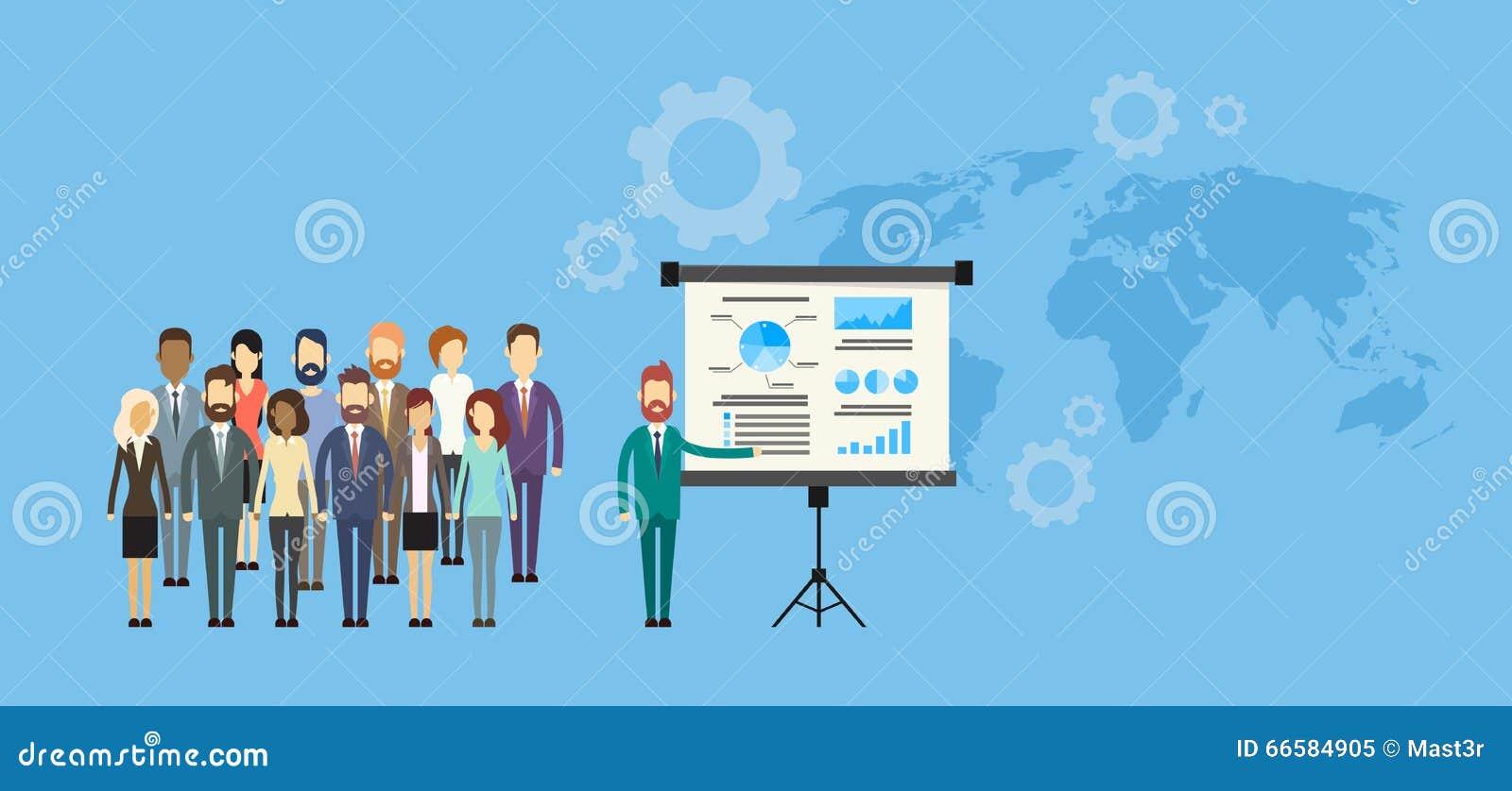 Presentation Flip Chart Finance för grupp för affärsfolk