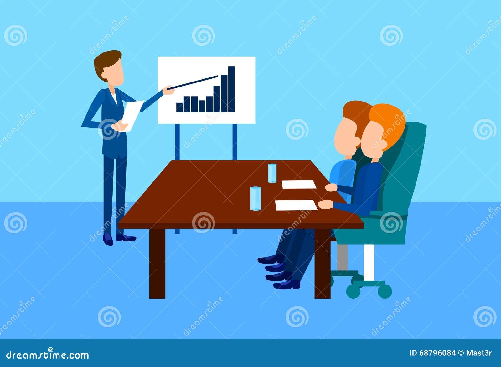 Presentation Flip Chart Finance Graph, Businesspeople Team Training Conference Meeting för grupp för affärsfolk