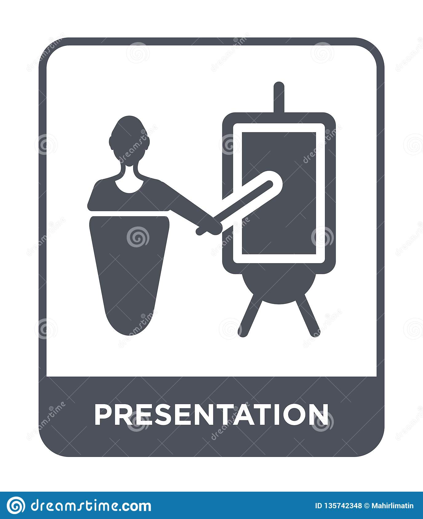 presentation icon in trendy design style. presentation icon isolated on white background. presentation vector icon simple and