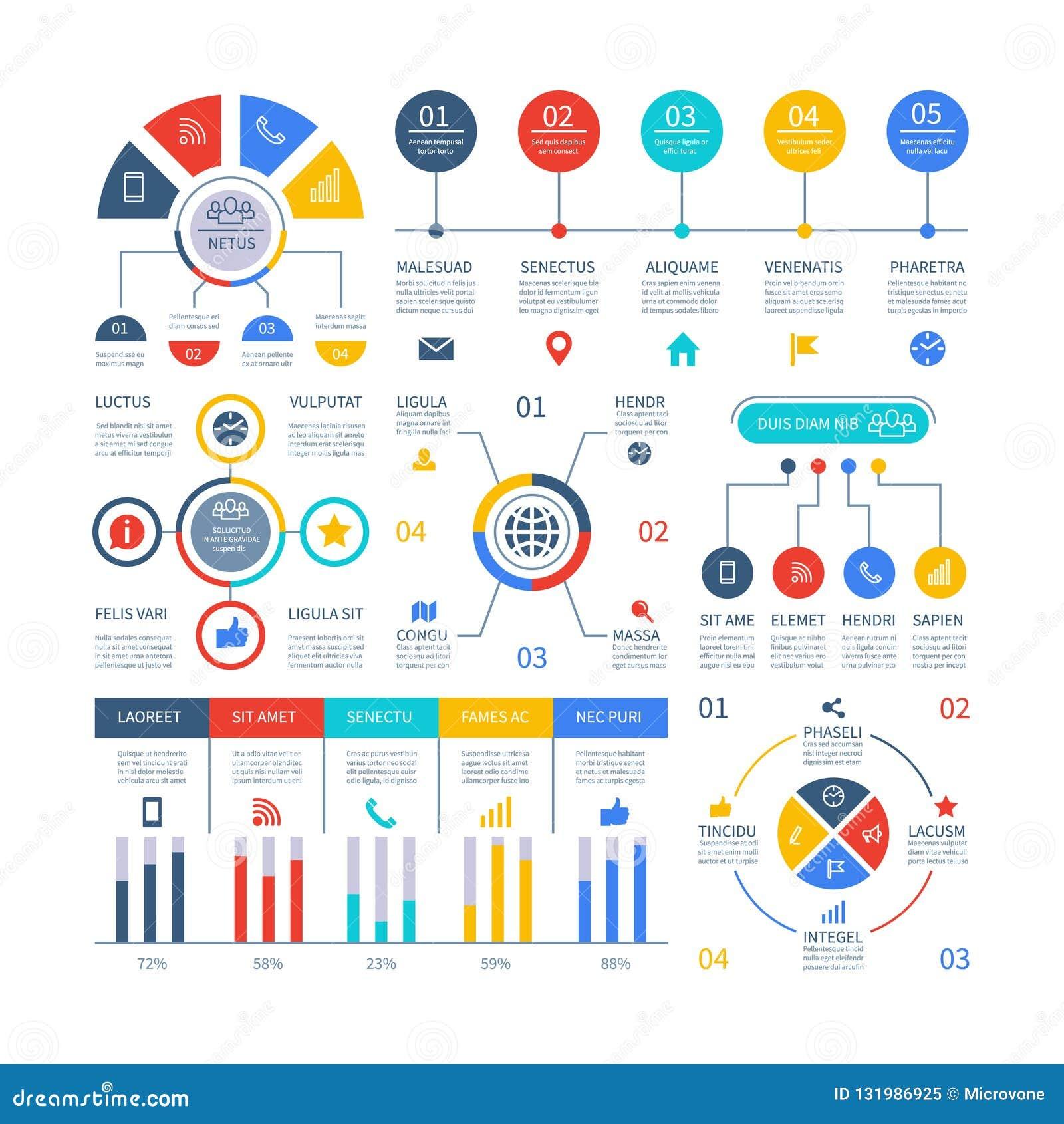 Presentation Infographics  Flowchart Timeline Process