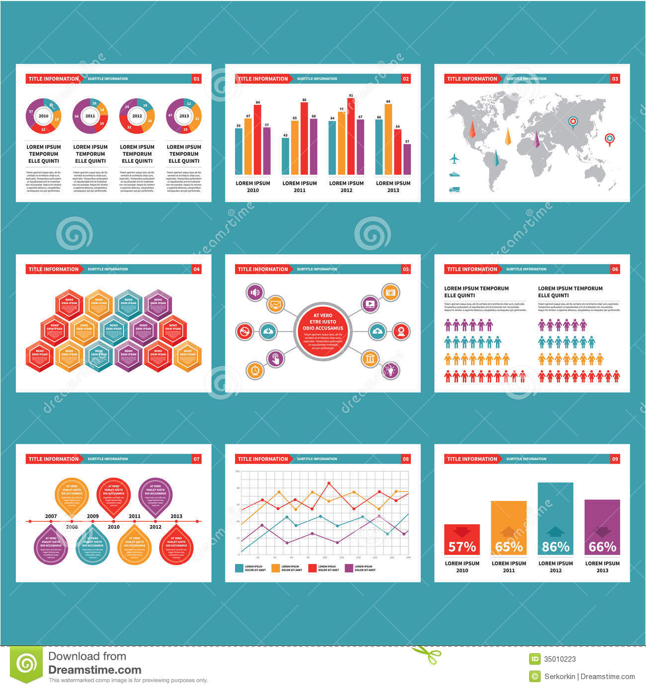 presentation in infographics vector illustration stock vector