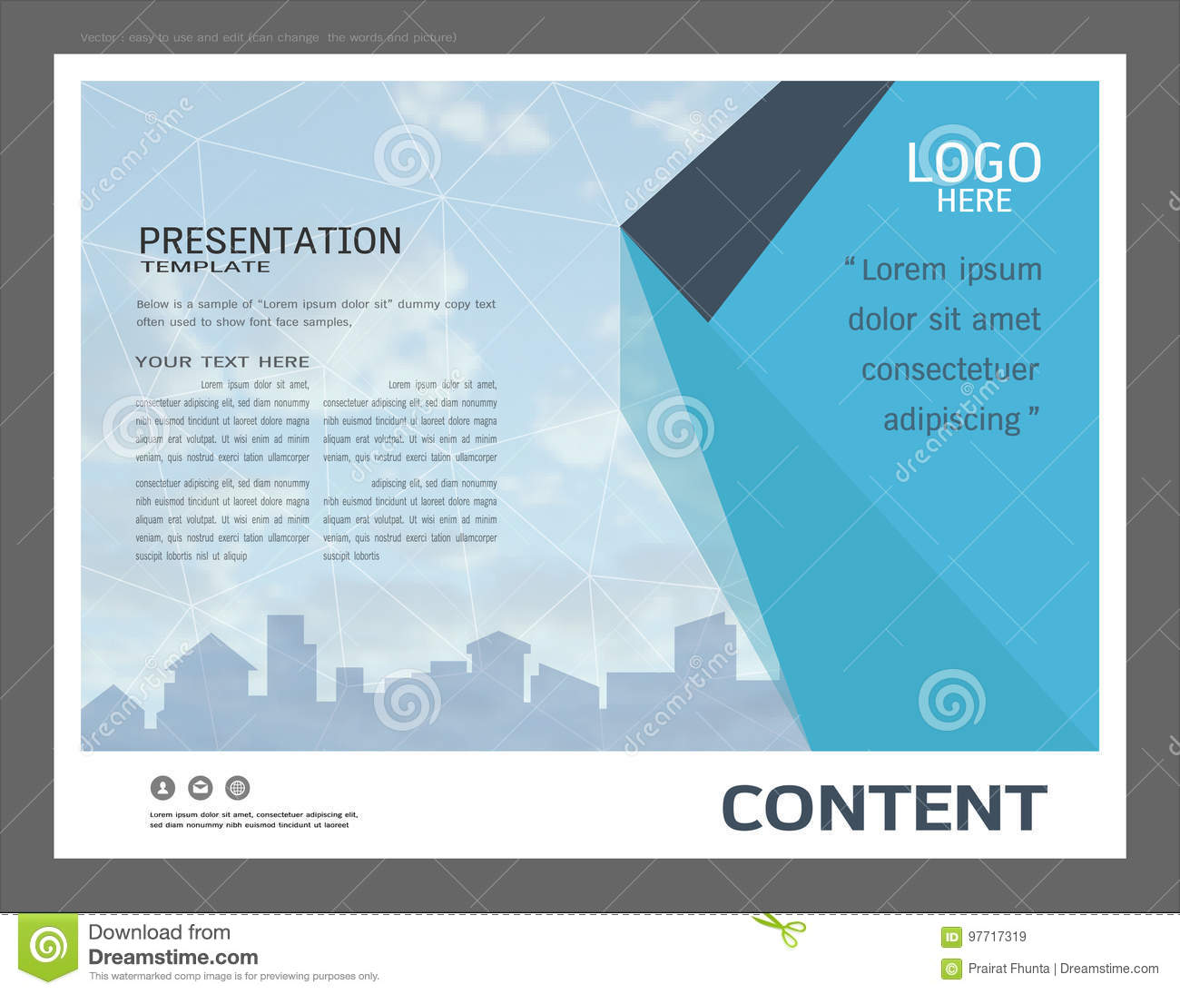 Presentation layout design for business cover page template stock download presentation layout design for business cover page template stock vector illustration of graphic wajeb Choice Image