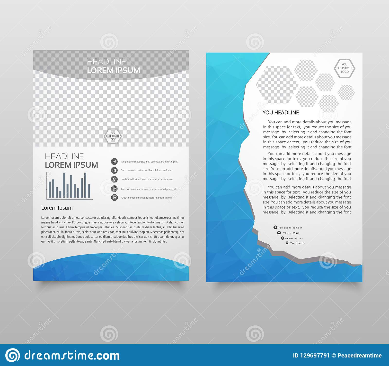 Presentation layout design template. Annual report cover page. B