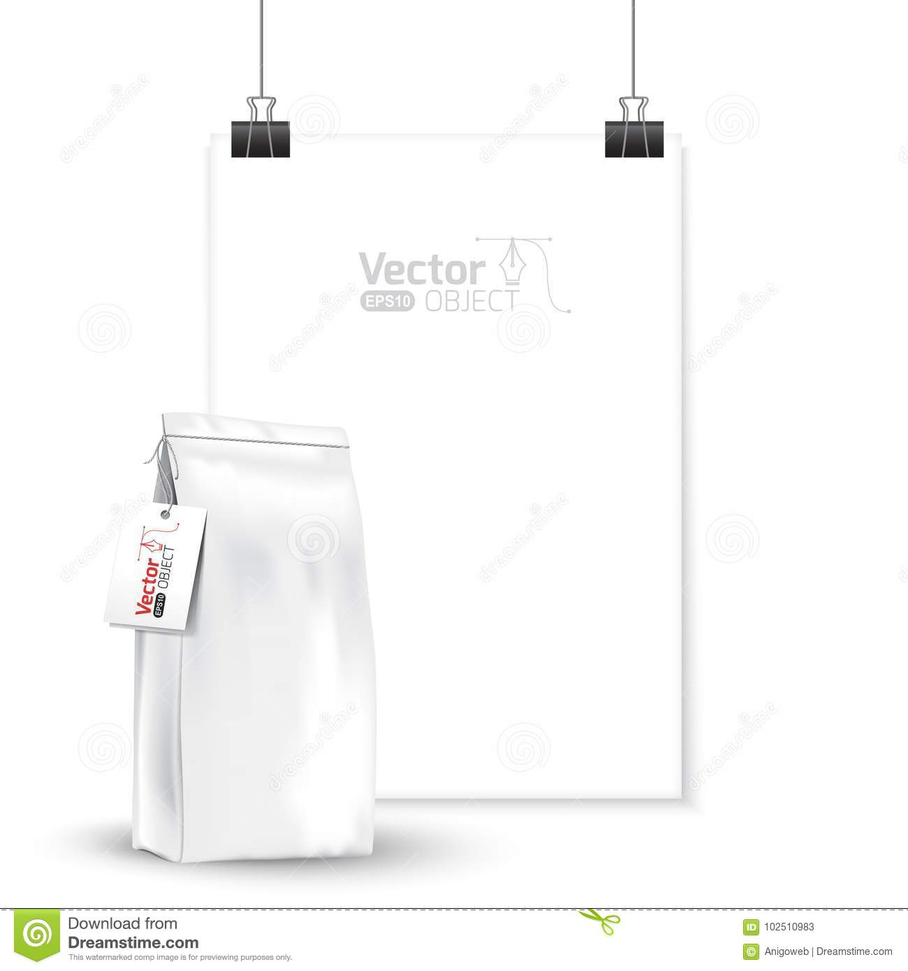 Presentation  Paper With A Leaflet, Bulk Products Stock
