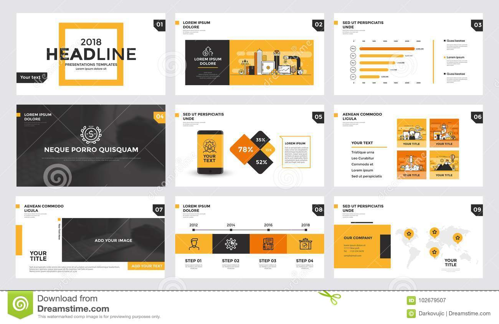 Infographics Slide Template Design Stock Vector Illustration Of