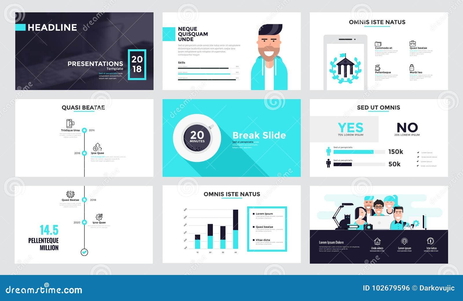 infographics slide template design 7 stock vector illustration of