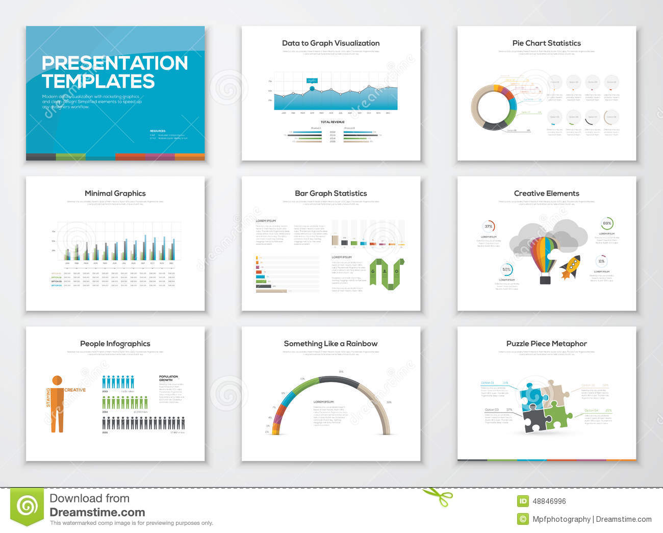 Set Of Presentation Slide Templates Powerpoint Stock Vector ...