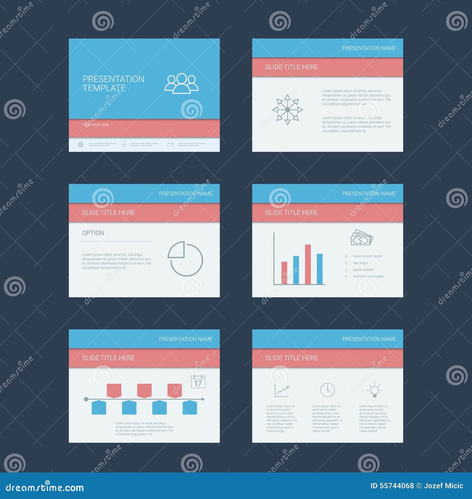 presentation slides template infographics stock vector