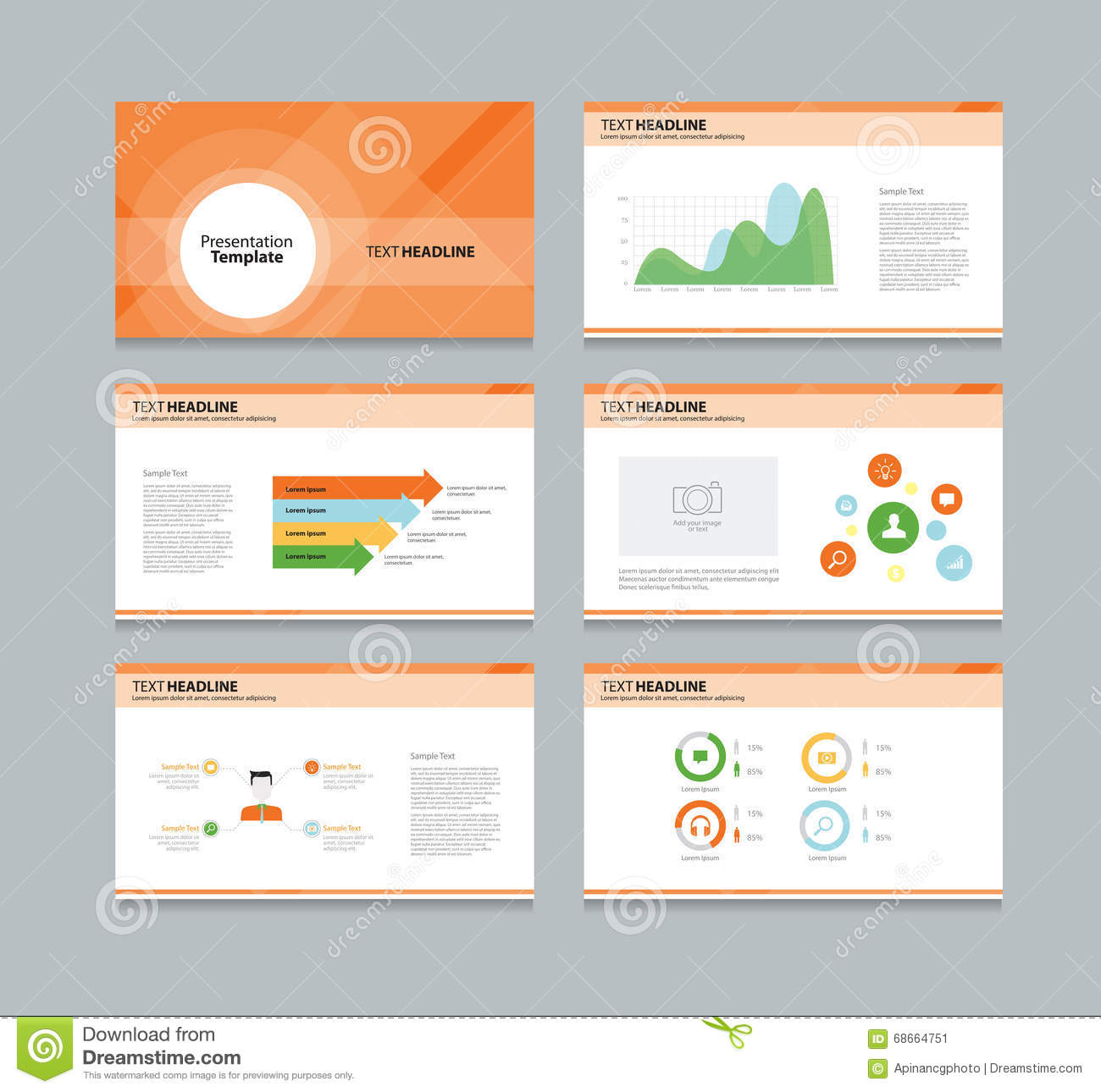 presentation template infographic business vector design