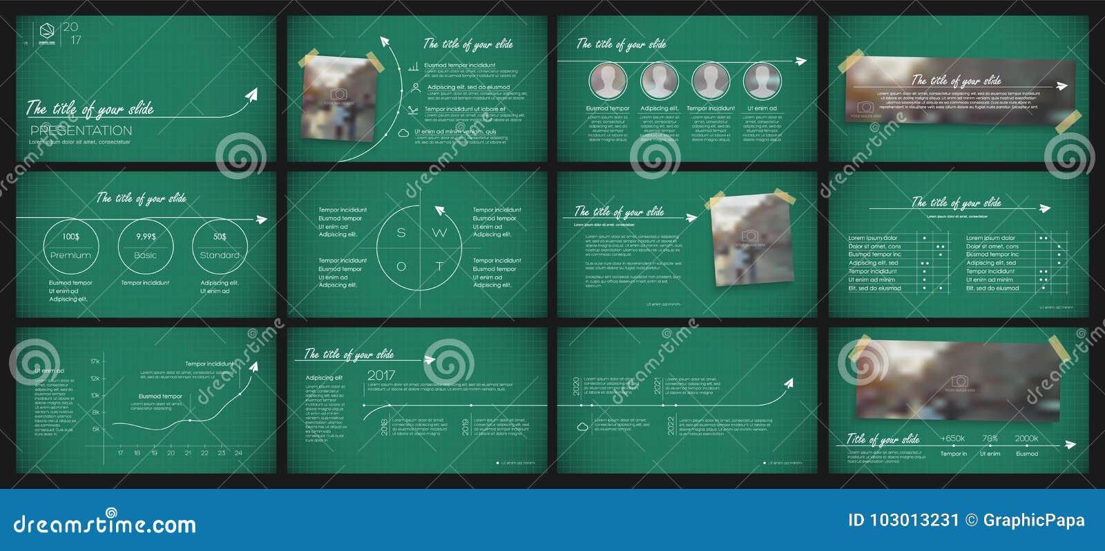 presentation templates elements stock vector illustration of
