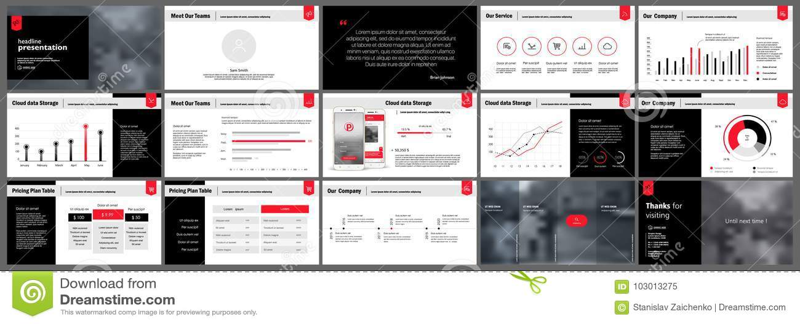 Presentation Templates Elements Stock Vector - Illustration of ...