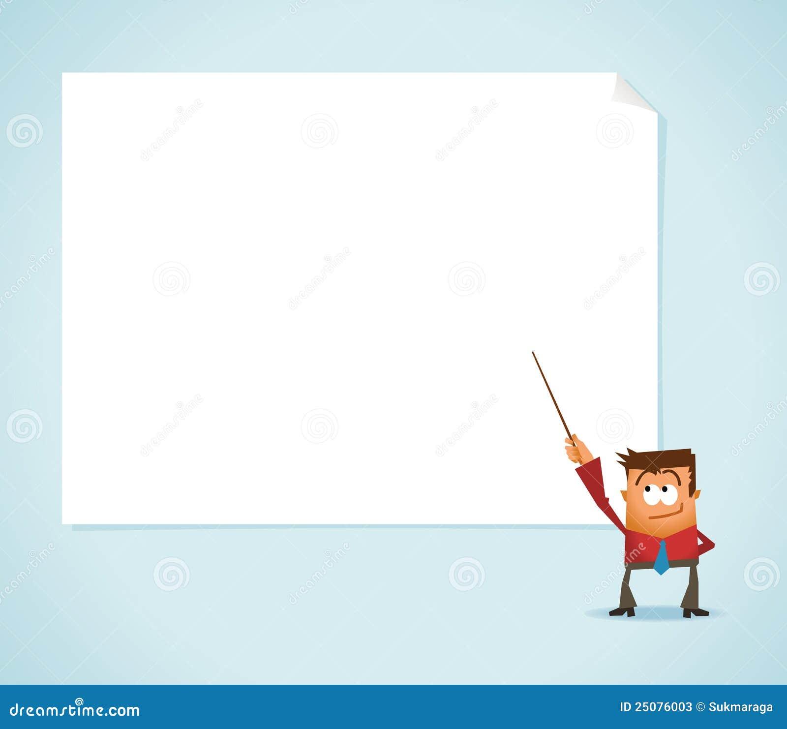 presentation on whiteboard stock vector illustration of expertise