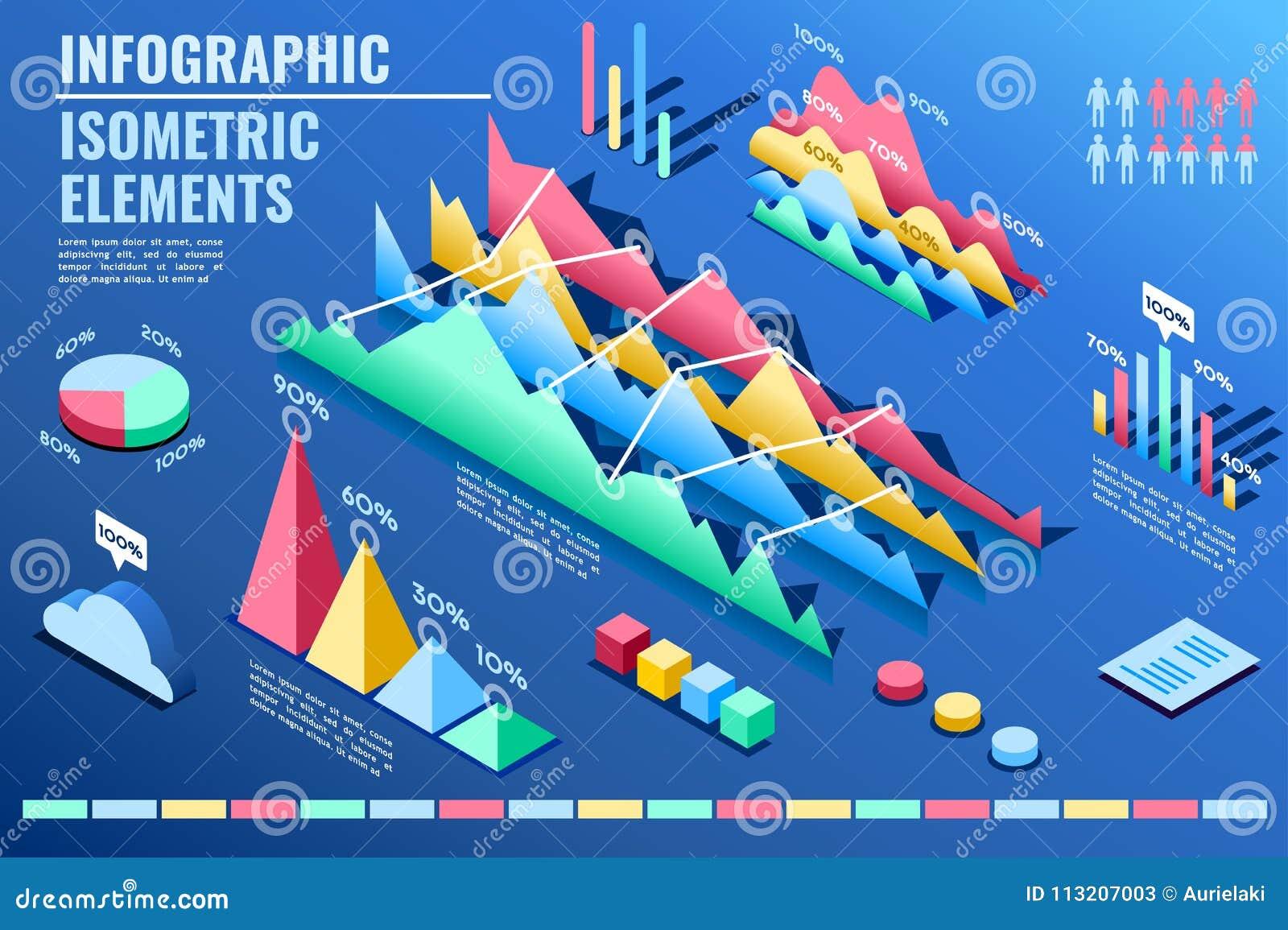 Presentazione promozionale di aumento di percentuale di statistica