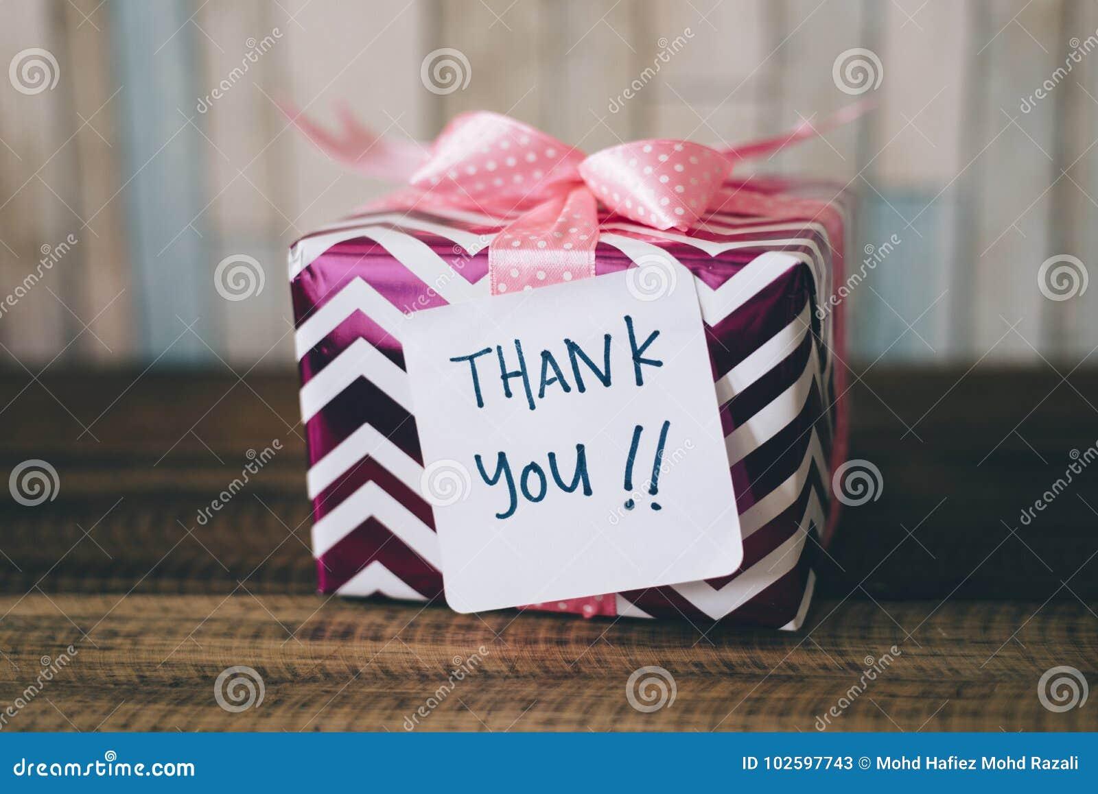 Presente/presente com um agradecimento você para notar